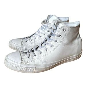 Converse white Chuck Taylor High top size 13